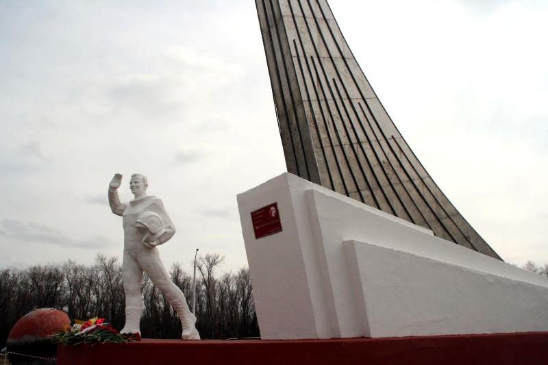Памятник Юрию Гагарину на месте приземления