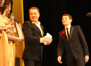 Руслан Дивлятшин на вручении премии «Золотой Арлекин»