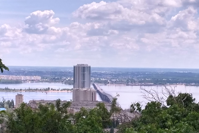 Вид на мост с Соколовой горы