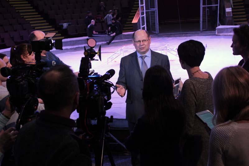 Иван Кузьмин на пресс конференции