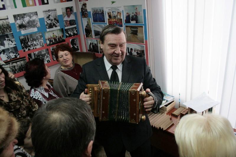 Владимир Комаров на открытии Музея саратовской гармоники