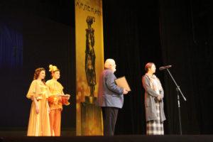 Марина Глуховская на вручении премии «Золотой Арлекин»