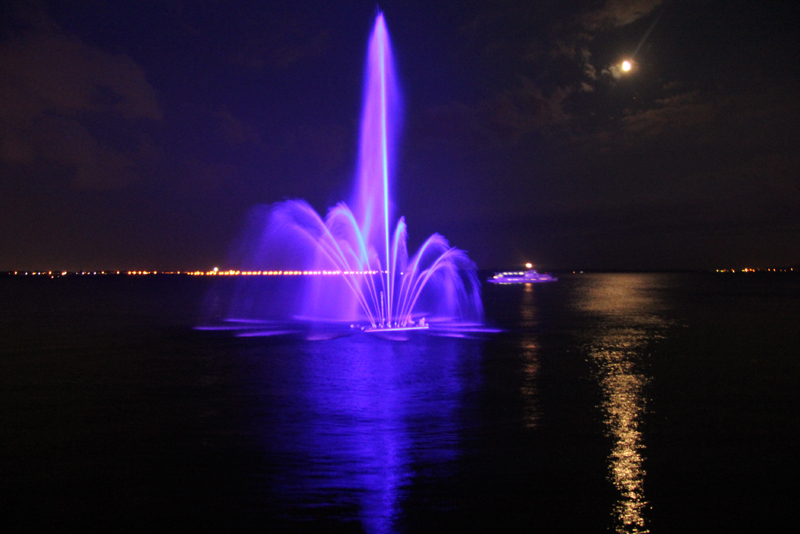 Плавающий фонтан «Сердце Волги»