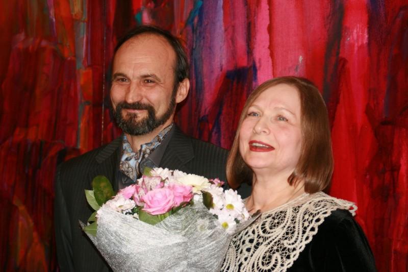 Татьяна Хаханова и Андрей Щербаков в музее имени Радищева