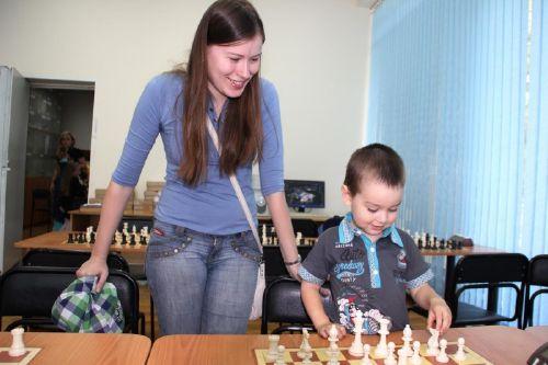 Наталья Погонина с сыном Колей
